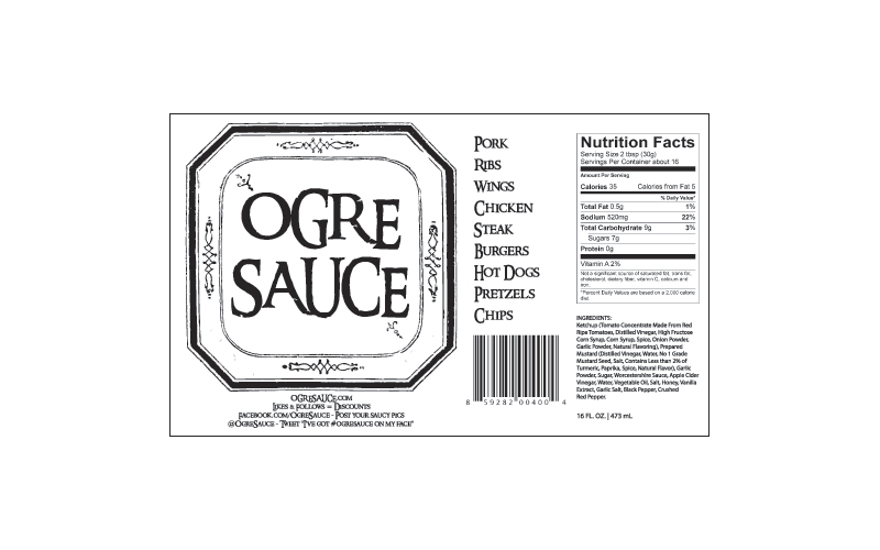 Ogre Sauce Labels